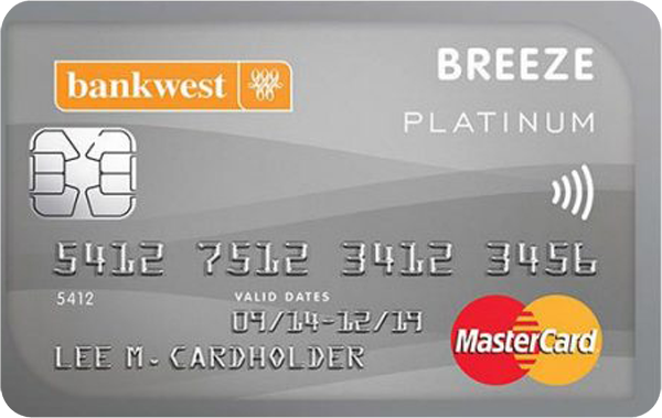 Bankwest Breeze Platinum Mastercard