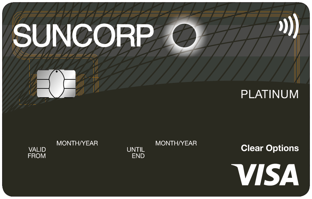 Suncorp Bank Clear Options Platinum Credit Card