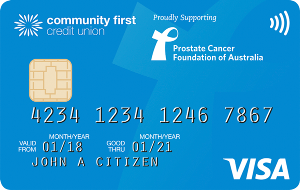 Community First Credit Union Blue Visa Card