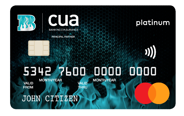 CUA Brisbane Heat supporters' Platinum Credit Card