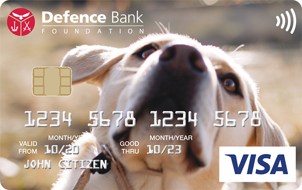 Defence Bank Foundation Visa Card